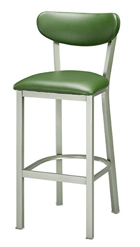 REGAL Clear Steel Upholstered Seat and Back Stool, 24