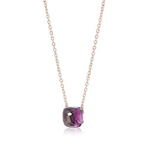 OSIANA Pendant necklace-WomensCrystal Brass (High Fashion Necklace Gift Box)