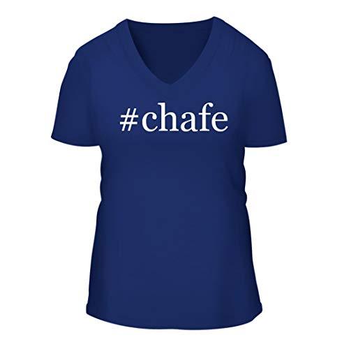#Chafe - A Nice Hashtag Women's Short Sleeve V-Neck T-Shirt Shirt, Blue, Large