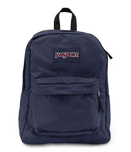 JanSport T501 Superbreak Backpack - Navy 2 Tone Pocket Folders