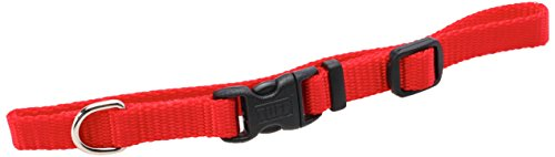 Coastal Pet Products DCP6301RED 3/8-Inch Nylon Adjustable Dog Collar, X-Small, Red