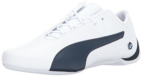 PUMA Men's BMW MS Future Cat Sneaker, White-Team Blue, 10.5 M US