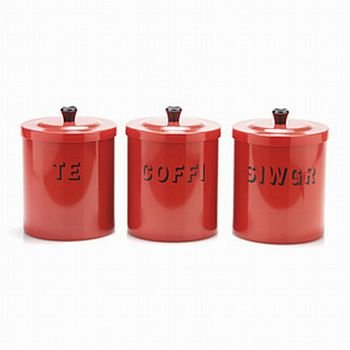 Set of Welsh tea coffee sugar canisters Amazon Kitchen & Home