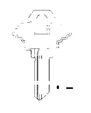 Sc1 Cylinder - Hy-Ko Key Blank Cylinder Sc1 Single Sided Nickel Plated Brass Polybag