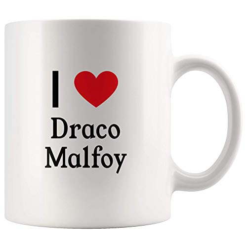 I Love Draco Malfoy Tea and Coffee Mug: 11oz Tea and Coffee Mug Merchandise For Fans Of Harry Potter!