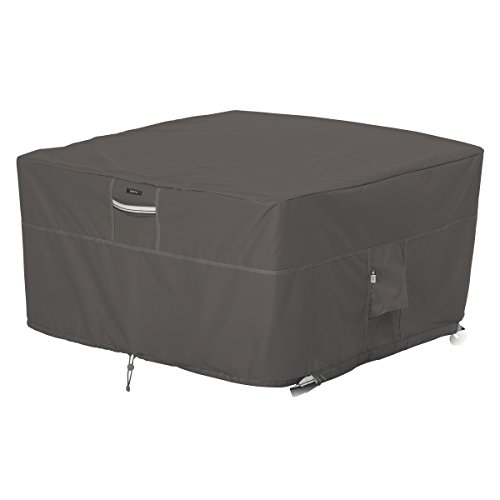 Classic Accessories Ravenna Square Fire Pit Table Cover - Premium Outdoor Cover with Durable and Water Resistant Fabric (55-417-015101-EC)