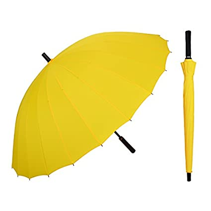 SSBY El Mango De Paraguas Paraguas Paraguas Recto Doble Gran Vientomedio Amarillo