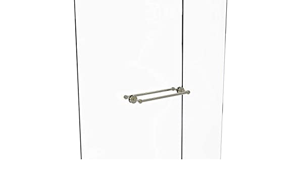 Allied latón Waverly Place (Back To Back toallero de barra para mampara de ducha, latón, Níquel pulido, 18 pulgadas: Amazon.es: Bricolaje y herramientas