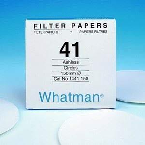 Whatman 1441-150 Ashless Quantitative Filter Paper, 15.0cm Diameter, 20 Micron, Grade 41 (Pack of 100) by Whatman