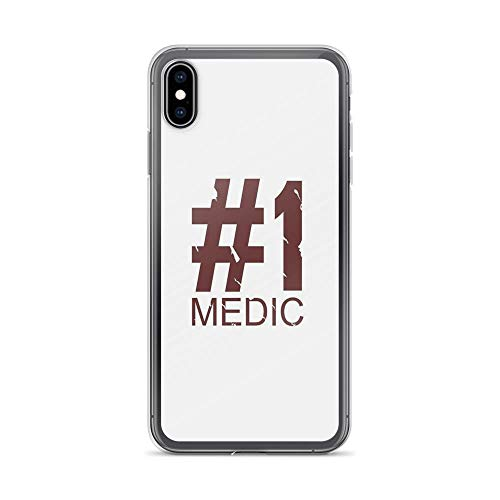iPhone Xs Max Case Clear Anti-Scratch Medic, Design Cover Phone Cases for iPhone Xs Max, Crystal Clear