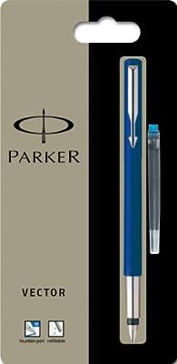 Parker Vector Blue Fountain Pen  Medium Pt New In Box