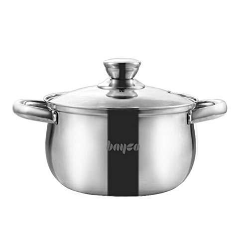 Xionghaizi Soup Pot, Milk Pot, Stainless Steel Soup Pot, Multi-Furnace Universal, 20cm, 24CM, Kitchen Best companio (Size : 24cm)