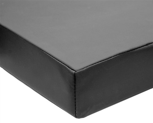 Imaging and Stretcher Table Pads - 2'' Premium Memory Foam, Long & Narrow, 77'' x 19'' x 2'', Black by Colortrieve