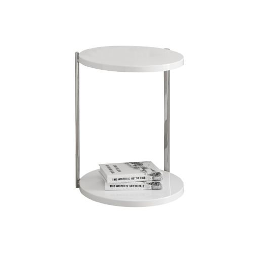 Monarch Specialties Side table IV 24 Inch Tall Round Side