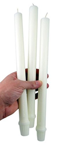 Cathedral Brand 51% Beeswax Short 4's Candles with Self-fitting Ends, 7/8 Inch x 12 Inch, Box of 24
