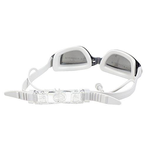 Rosa grandes para Gafas y para unisex protección lente Schleife de negro UV antivaho con tapones oídos adultos transparente gris natación 0EEIFwq