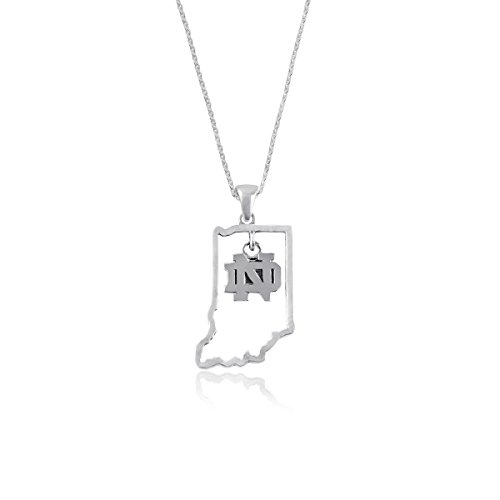 - Dayna U University of Notre Dame Fighting Irish UND Sterling Silver Jewelry (State Outline Necklace)