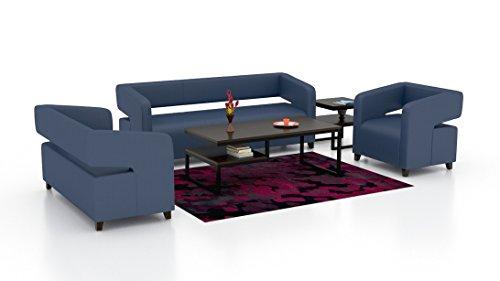 Royal Interiors Full Cushion Sofa Set 3+2+1  Blue