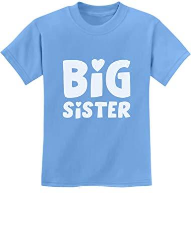 TeeStars - Big Sister - Sibling Gift Idea Elder Sister Cute Kids T-Shirt X-Small California Blue ()