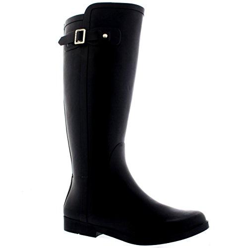Letame Polar Stivali Gomma Nero di Impermeabile Piedi Stivali Donna Cane Alto Original A Equitazione qfHPS