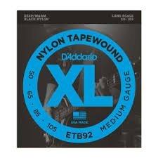 - D'Addario ETB92x2 (2 sets) Elec Bass Guit Strings, Long, XL Nylon Tapewound, (050, 065, 085,100)