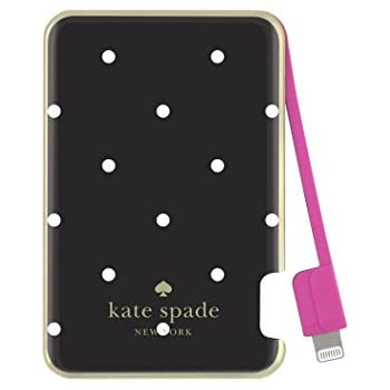 huge discount 98a8e 49f2d kate spade new york Charging Bank, Battery Charger with Lightning Cable  1500 mAh - Larabee Dot (Black/Cream)