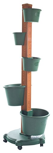 My Garden Post 5 Planter Vertical Gardening System Finish, Hunter Green by My garden Post
