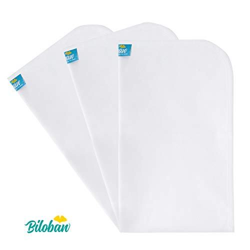 """Changing Pad Liners Waterproof (3 Count), Machine Washable & Dryer and Super Soft, Extra Large 27"""" X 14"""" Flannel Baby Diaper Changing Table Pad, White"""