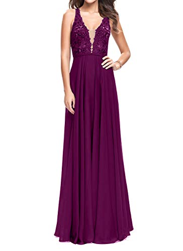 Hell Ausschnitt Braut Traube Neu 2018 Lang V Partykleider Elegant Abendkleider mia Ballkleider Festlichkleider La Promkleider Spitze RFnq11
