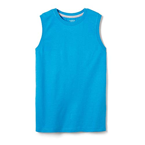 French Toast Boys'  Sleeveless Solid Muscle Tee, methyl blue heather, 4T,Toddler Boys ()
