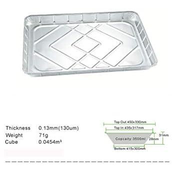 Amazon Com Hyphoen 18 Quot X13 Quot Disposable Aluminum Oblong