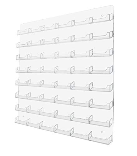 Marketing Holders 48-pocket Wall Mount Business Card Holder Rack - Clear Acrylic (48 Pocket, Clear) (Business Clear Card)