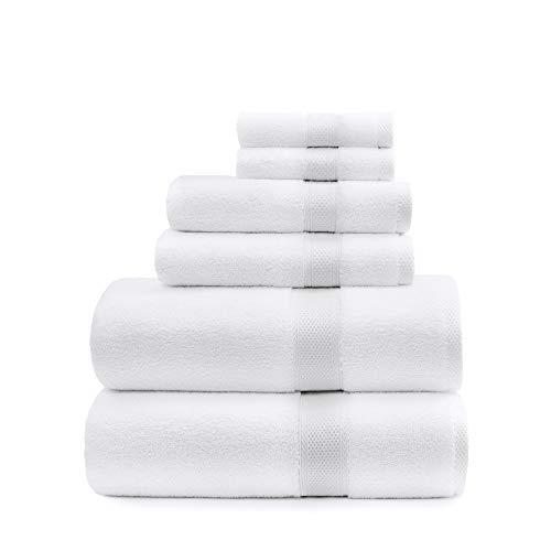 Standard Textile Lynova Towels (Set of 6) The Real Luxury Hotel Towel, 100% Cotton, 2 Bath Towels, 2 Hand Towels, 2 Wash Cloths