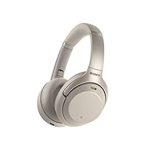 Sony WH-1000XM3 Noise Cancelling Wireless Bluetooth Over The Ear Headphones with Mic – Industry Leading Active Noise Cancellation – Silver (Worldwide Version) + 1 Year Extended Warranty