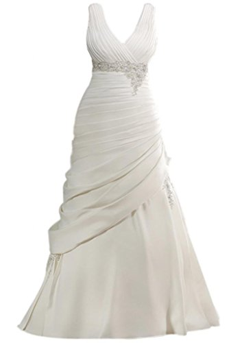 Train Taffeta Wedding Gown - 3