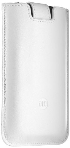 Philips DLM63069 White PU Leather Pull Tab Pouch Case Cover for iPhone 3G 3GS