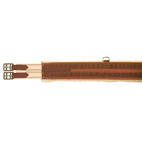 Kincade Equalizing Girth with Fleece, Brown/Beige, Size 46