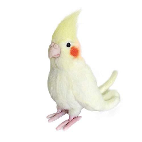 (FidgetGear Simulation Cockatiel Parrot Bird Plush Toy Yellow Bird Cute Stuffed Animal Doll)