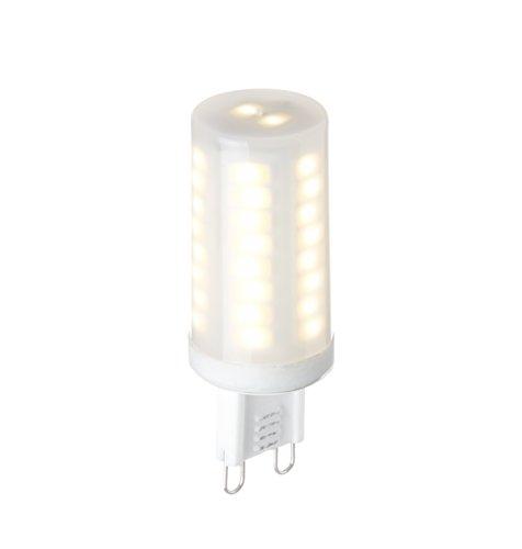 Frosted Appliance - G9 LED Bulb Dimmable, 4 Watt 50 LEDs 350 Lumens, Frosted Warm White 3000K, 120V - ETL Listed