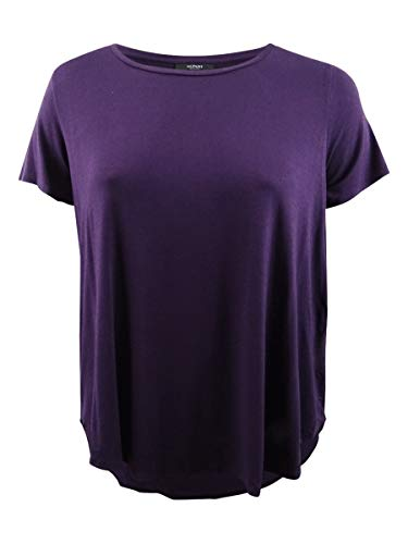 Alfani Women's Plus Size High-Low T-Shirt (1X, Alf Dark Fig)