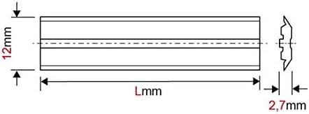 420x12x2,7mm 2 CentroFix Hobelmesser HSS-18/% T1