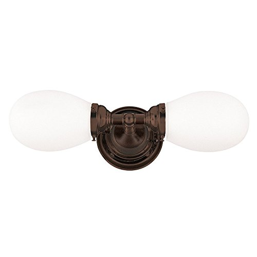 Hudson Valley Lighting 102-OB Two Light Bath Bracket from the Edison collection Old Bronze