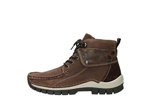 donna 59430 Cognac Cuir Sneaker Wolky gw5UqAq