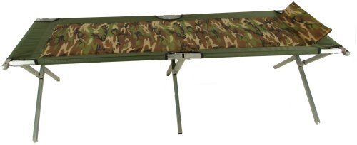 Blantex XT-3 Camo Oversized Steel Army Cot with Foam Pad and Pillow by Blantex