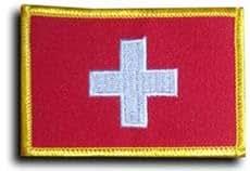 Suiza–país rectangular parche