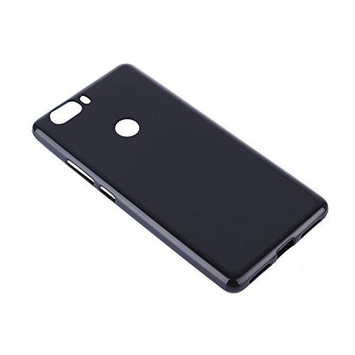 Lusee® Funda de silicona para ZTE Nubia Z17 5.5 pulgada Suave Cascara TPU negro negro