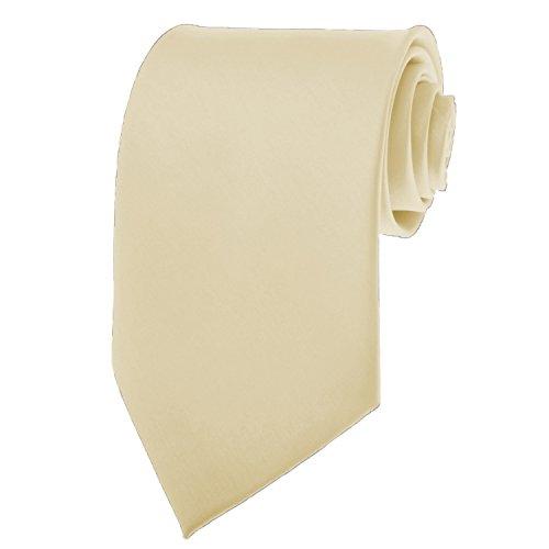 Solid Cream (Solid Color Mens Tie - Ivory)