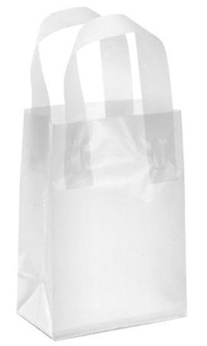 (Count of 25 New Retail Small Clear Frosty Shopper 5