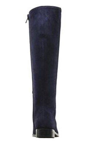 11sunshop Classico Birdy Stivali Di Camoscio Modello Dalla Progettazione Hgilliane In 33-44 Solo Dalla Misura Del Piede Bleumarine