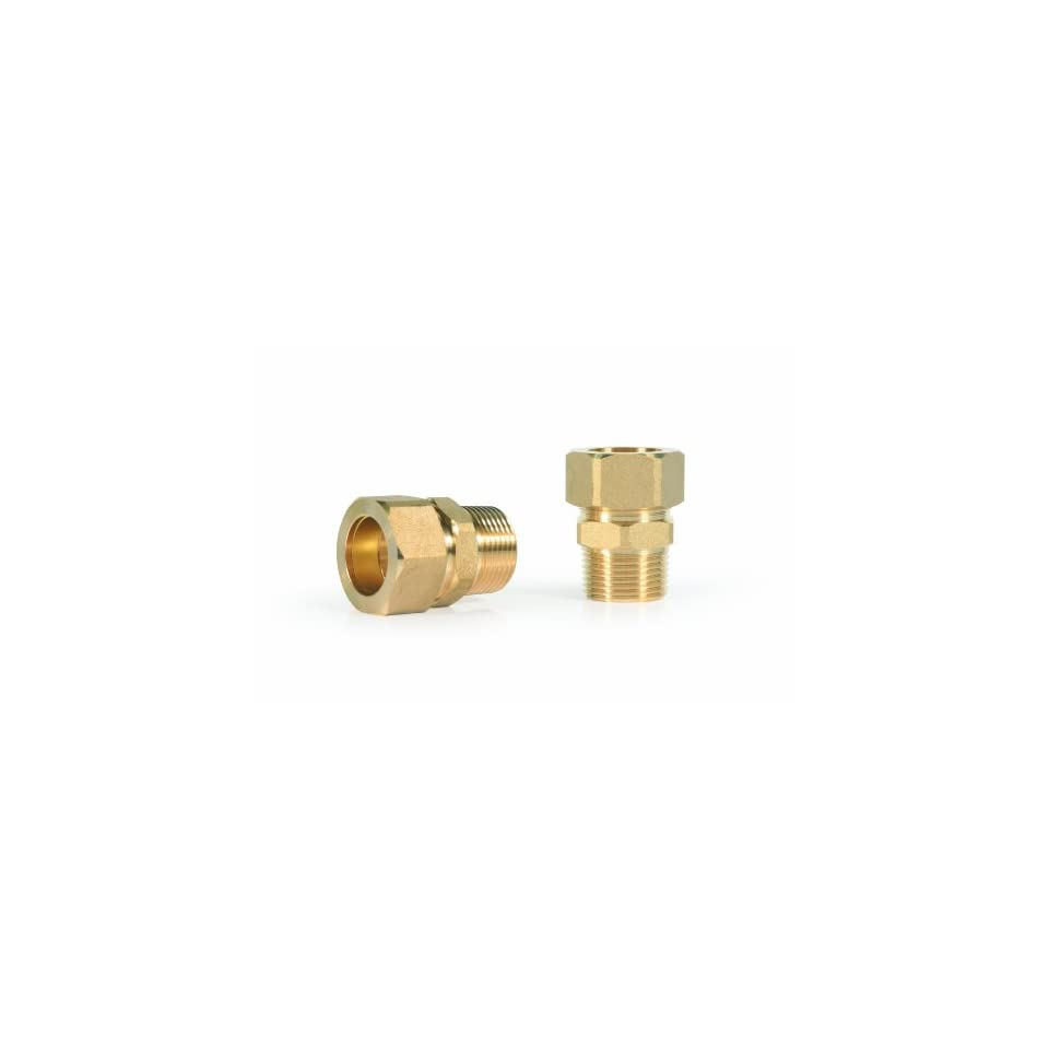 Camco 10196 3/4 Inch by 3/4 Inch Brass Compression Fittings for Evaporative Coolers, 2 Pack
